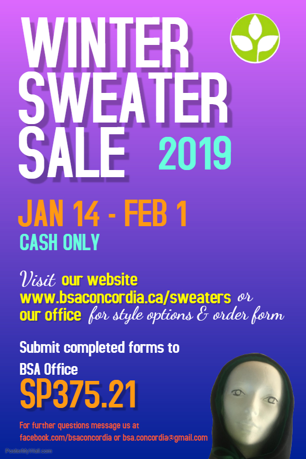 copy of copy of winter sweater sale - made with postermywall